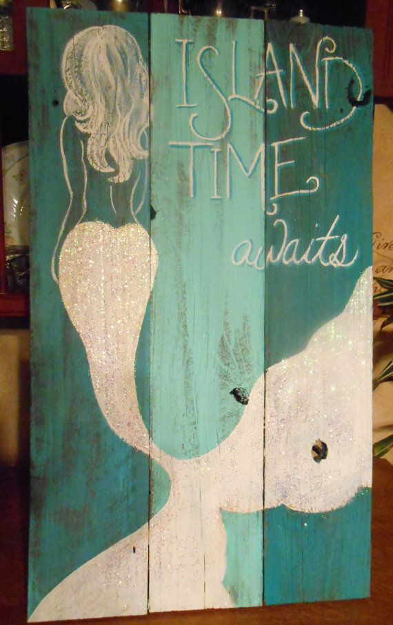 Hey, I found this really awesome Etsy listing at https://www.etsy.com/listing/266327800/mermaid-sign-hand-painted-original