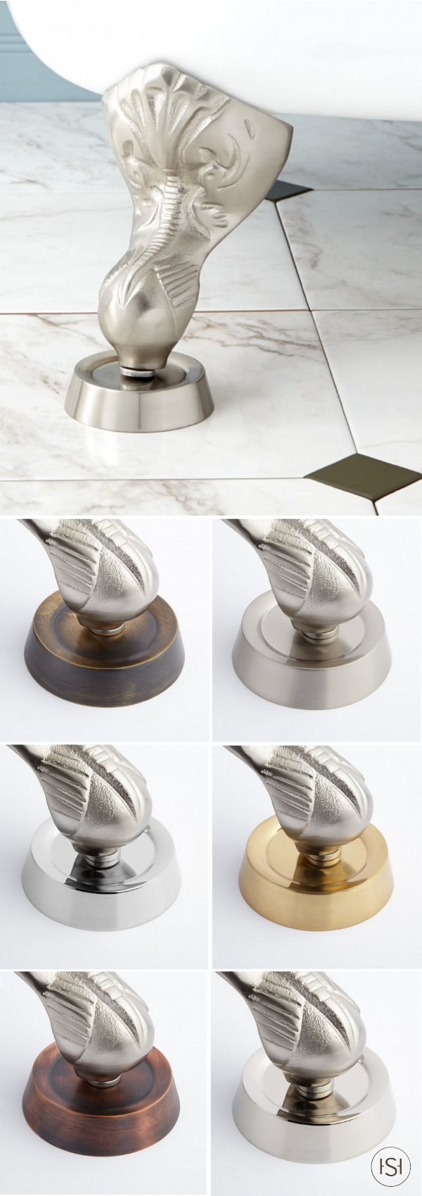 Solid Brass Coasters for Tub Feet - Set of 4 | Pinterest | Solid ...