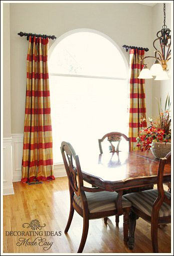 drapery hardware pin drapes to scroll large video how shown iron venetian clip shows arch