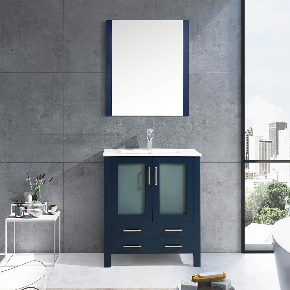Lexora Volez 30 Color Navy Blue Bathroom Vanity With Mirror Navy Blue Bathrooms Blue Bathroom Vanity 30 Inch Bathroom Vanity [ 1000 x 1000 Pixel ]