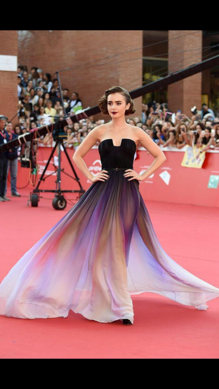 Lily Collins Is a Vision on the Red Carpet at the Rome Film Festival ...