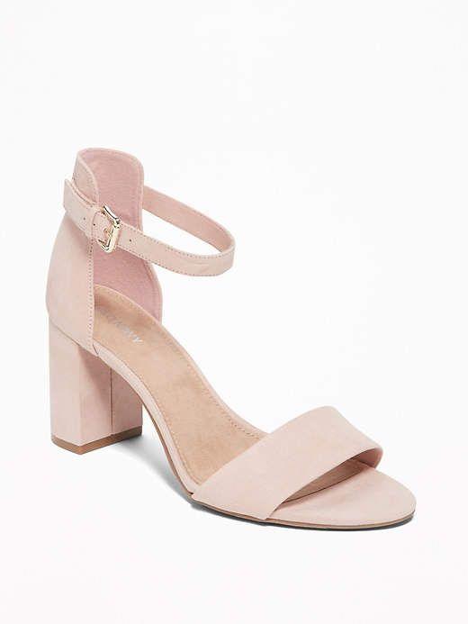 7f3ca6872ac7d Old Navy Sueded Block-Heel Sandals for Women