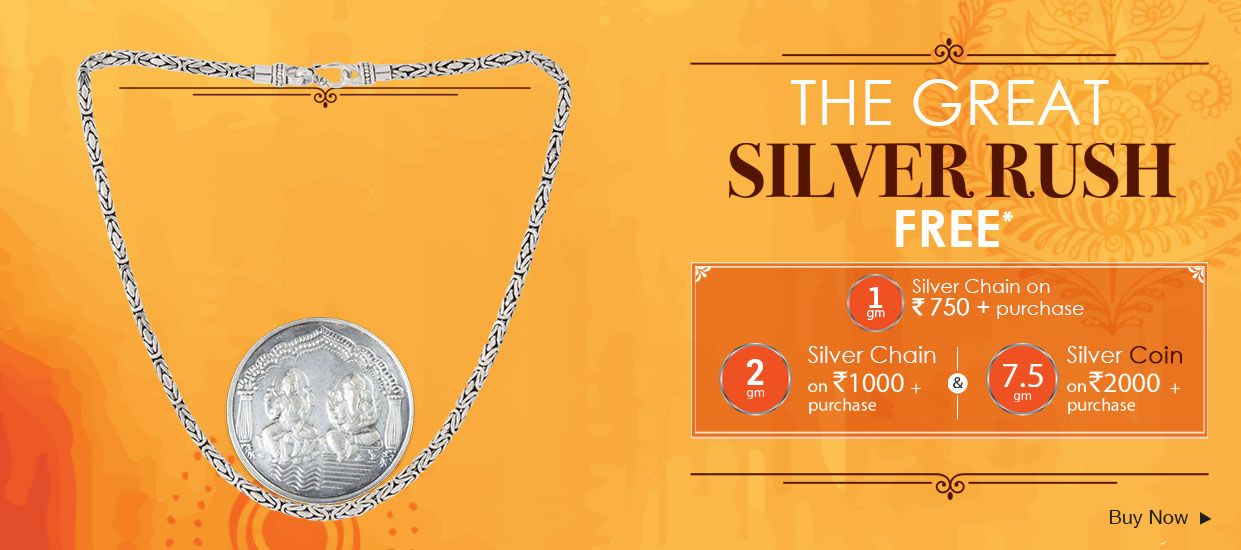 Voylla Diwali Sale-FREE Silver Coins worth Rs.450* FREE Silver Coins worth Rs 450* on purchase of Rs.1000 or above only at Voylla. Voylla is an online jewelry store that offers an array of designer fashion jewelry and accessories for women, men and kids.