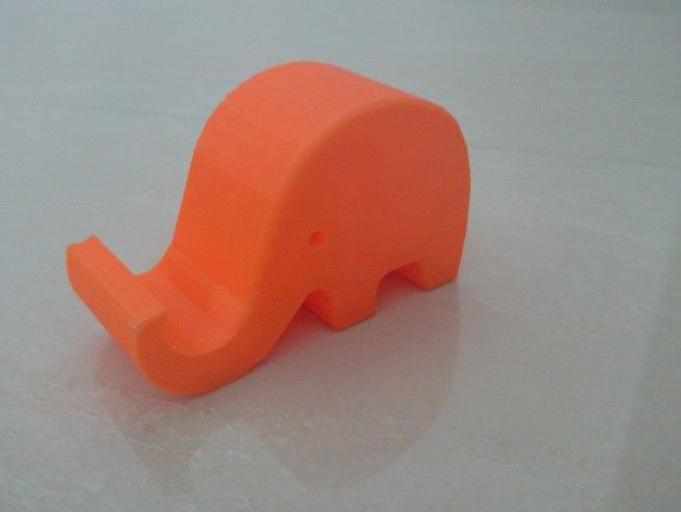#3DPrinted #Elephant #IPhone6 Stand _Designed by unfilterd , www.likefigures.com