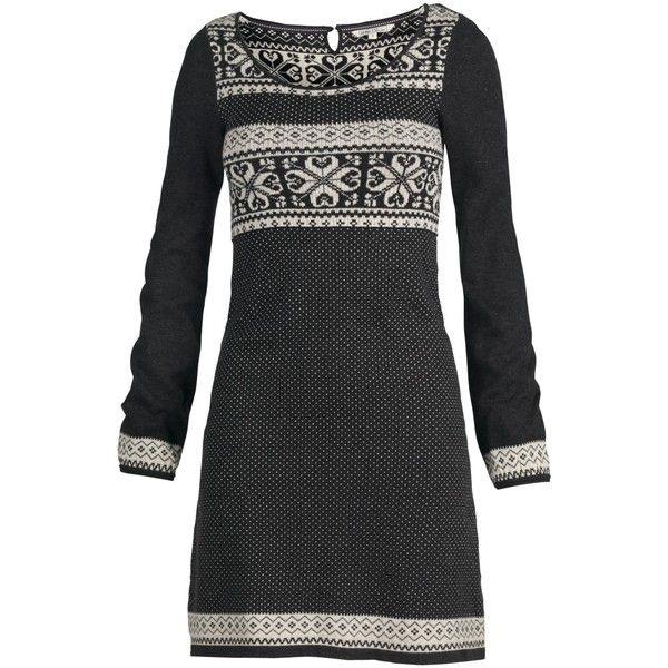 Fat Face Bertie Knit Dress, Phantom ($39) ❤ liked on Polyvore featuring dresses, womens dresses, knit dress, sleeve dress, round neck long sleeve dress, round neck dress and longsleeve dress