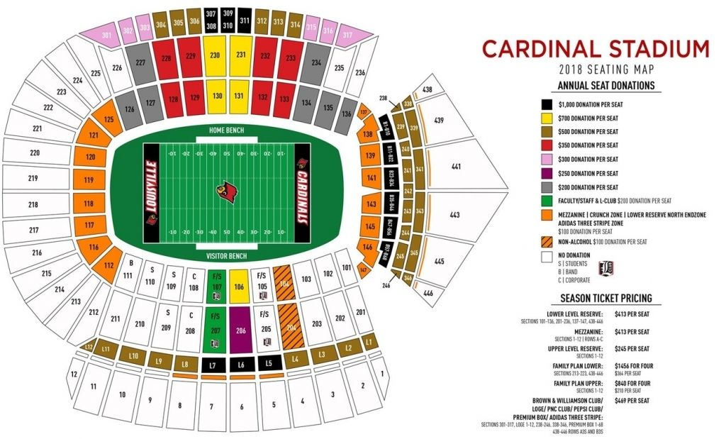 Elegant Fsu Stadium Seating Chart Di 2020