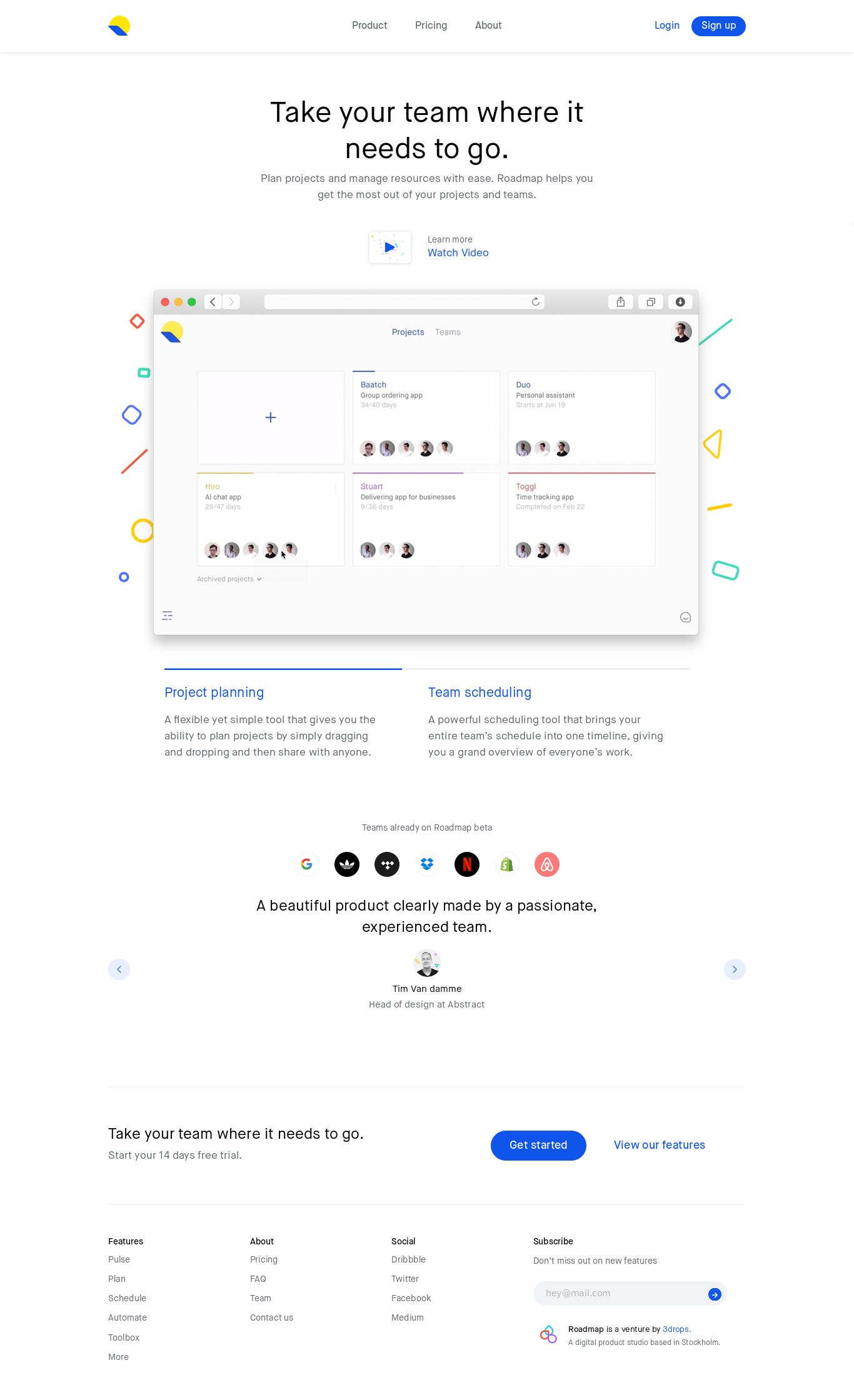 What A Nice Website Design From LandBookCom  Landing