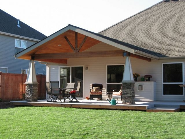 Gable End Cover North Albany Tnt Builders Patio Design Patio Roof Covered Patio Design