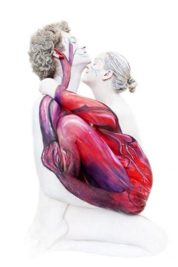 Image Result For Abstract Human Heart Painting Body