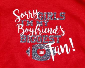 Items Similar To Football Girlfriend Shirt On Etsy Shirt Ideas