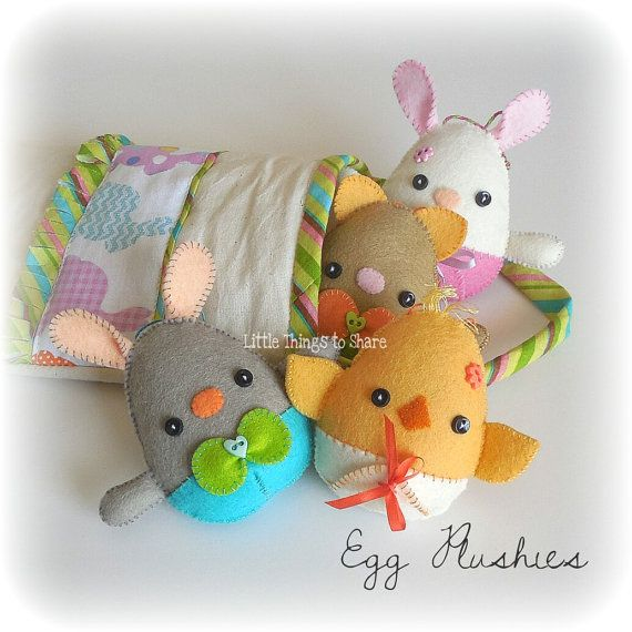 Egg Plushies Pdf Pattern Easter Eggs Sewing Pattern Egg Animals In