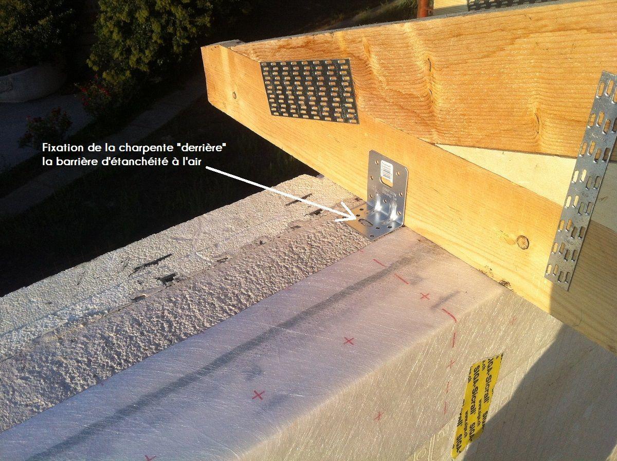 « Pose et fixation charpente fermette derrière la membrane ...