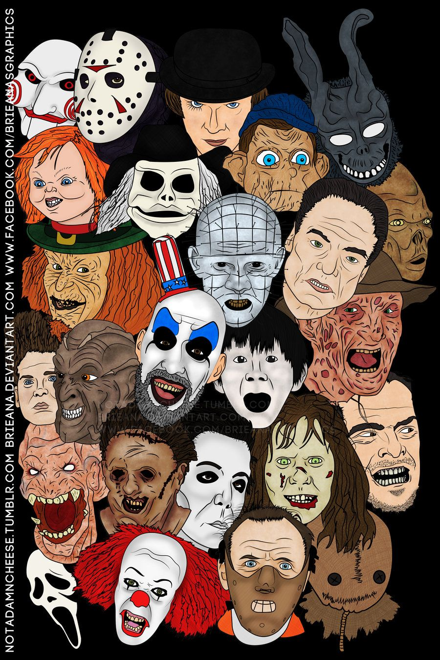 Horror Movie Art Pictures Horror Movie Poster By Brieana Digital