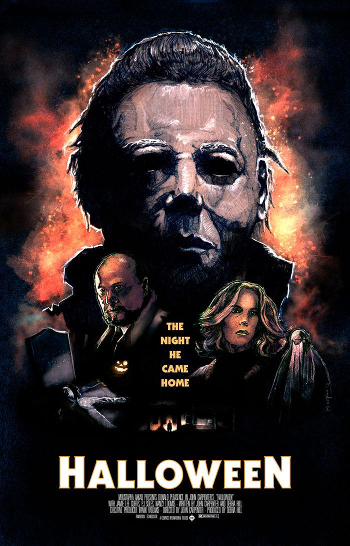 Halloween (1978) fan poster Horror movie posters