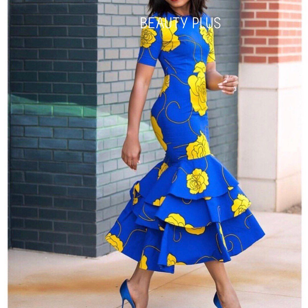 African women fashion dress/ African prints long dress/African women wedding outfit/ Ankara dress/Af #afrikanischefrauen