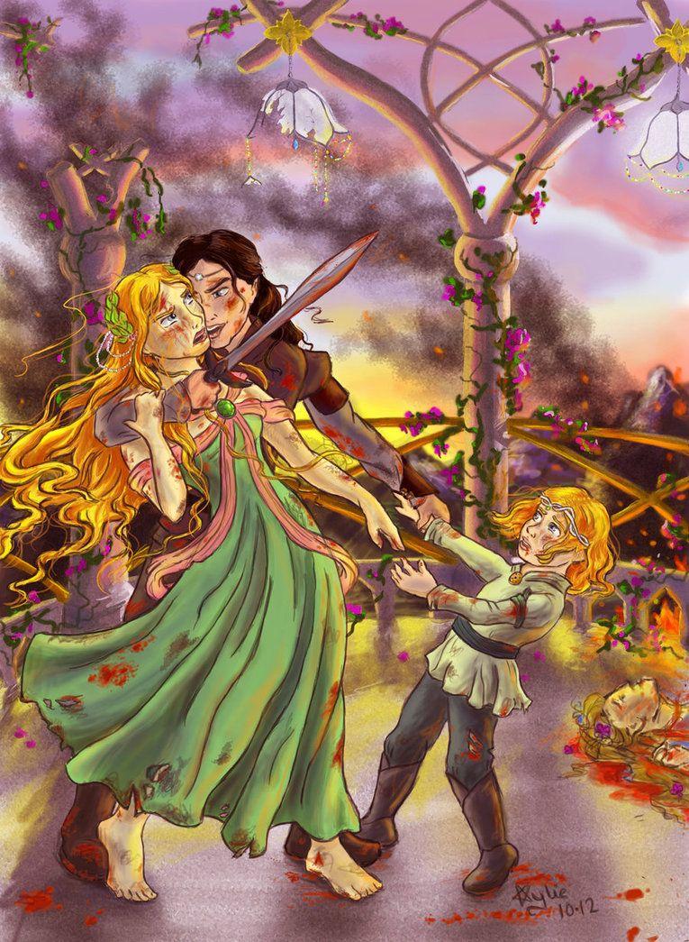 The Fall Of Gondolin By Palantiriel On Deviantart Idril Tuor And Son Earendil Tolkien Elves Art Fantasy World
