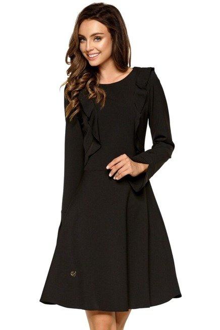 Rozkloszowana Sukienka Z Ozdobnymi Falbankami Kobieta Odziez Sukienki Sukienki Shop Fashion Dresses Dresses For Work