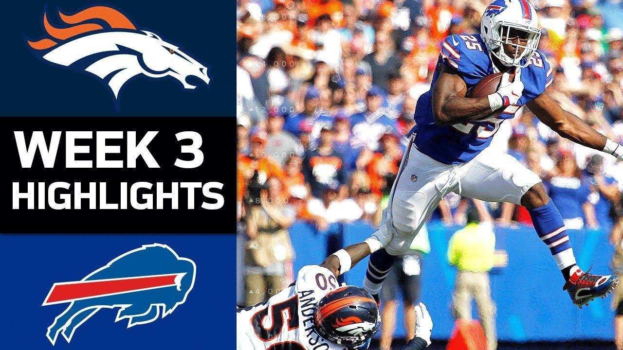 Broncos vs. Bills NFL Week 3 Game Highlights (With