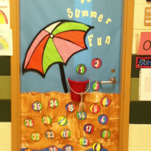 Summer Classroom Decoration ~ Summer countdown door crafts pinterest classroom