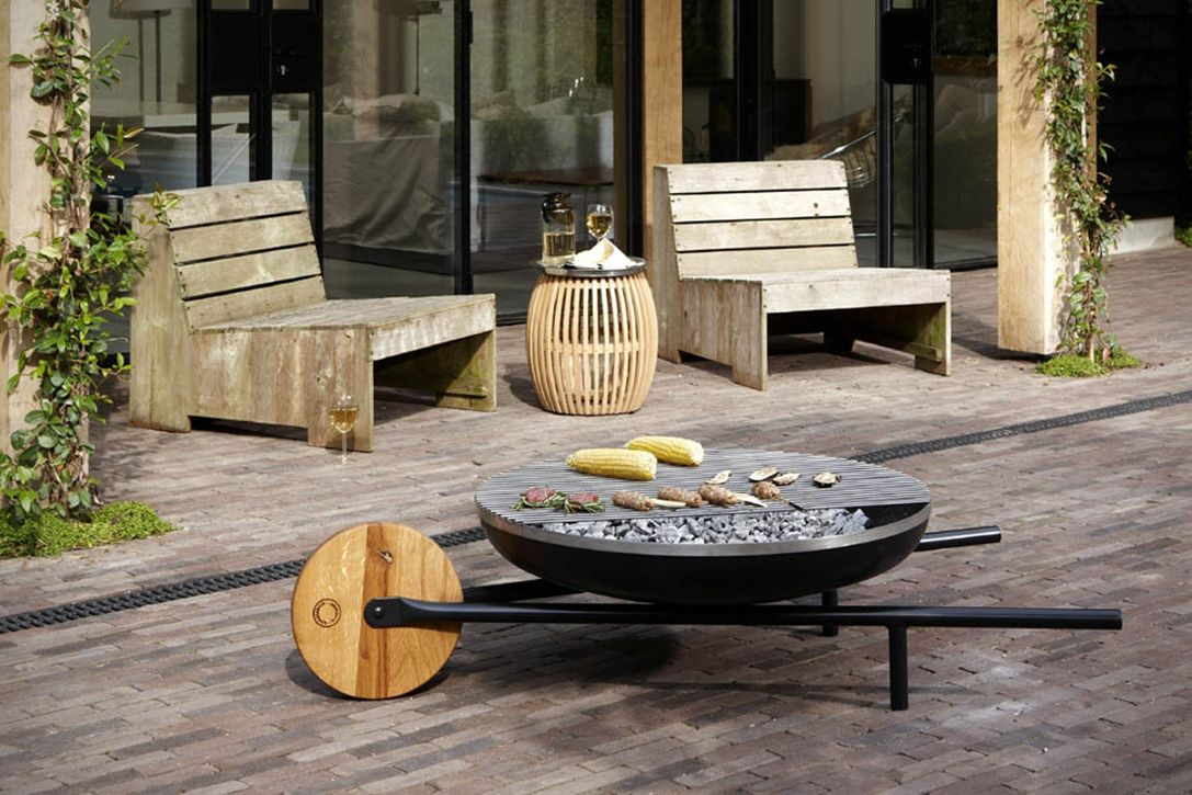 Barrow Rolling Fire Pit 4 Fire Pit Barbecue Fire Pit Materials