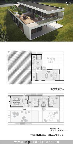 modern house plan designed by NG architects www.ngarchitects.eu #beautifularchitecture