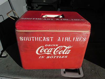 Vintage 1950's DRINK Coca-Cola Hard Plastic Cooler-Chest-Southeast