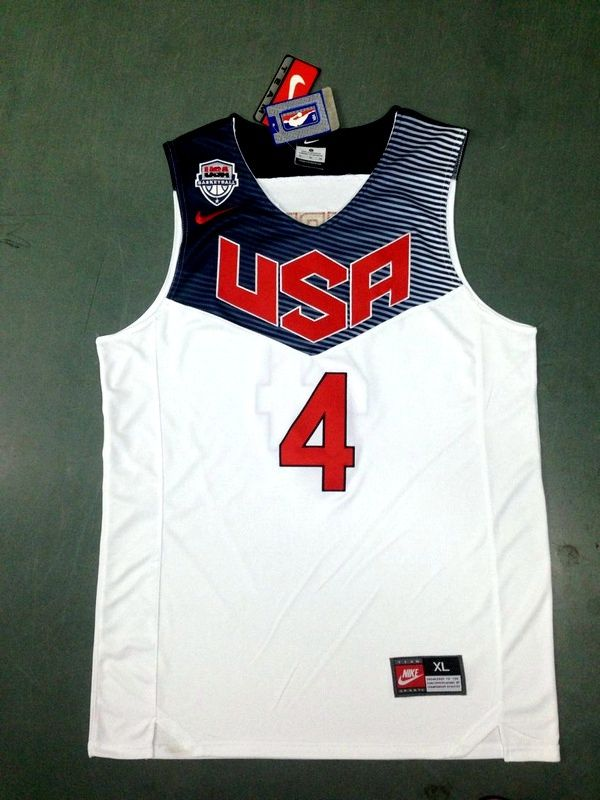 Stephen Curry 2014 FIBA Basketball World Cup team white color jersey ... b32acf757