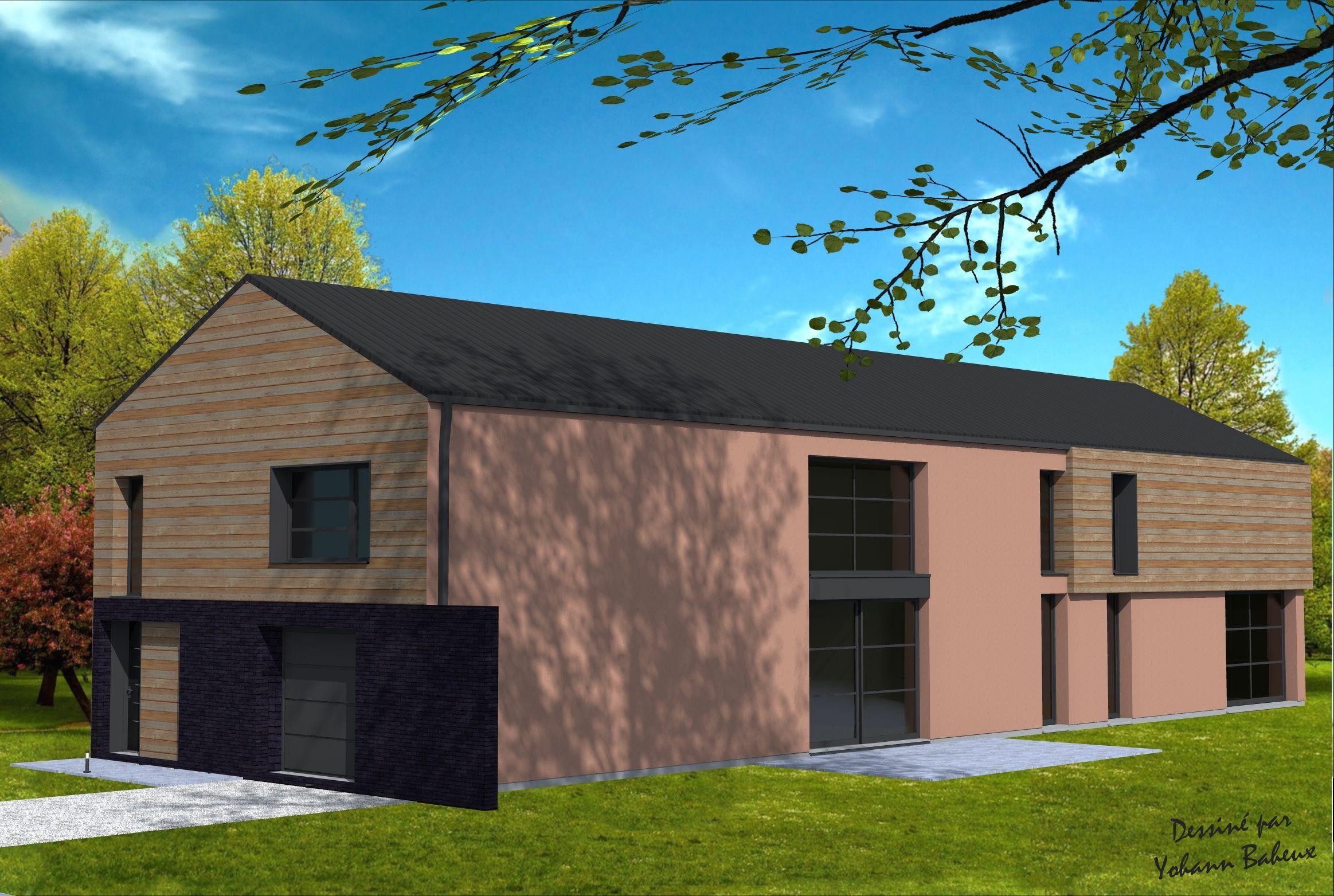 Transformation d 39 un hangar en habitation maison en projet maitre d oeuvre maison et plan maison - Hangar maison ...