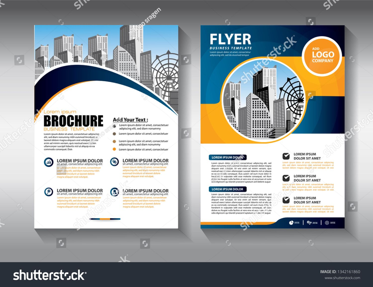 Business abstract vector template. Brochure design, cover