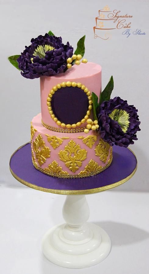 Pink and Violet Love ! - Cake by Signature cake by Shweta