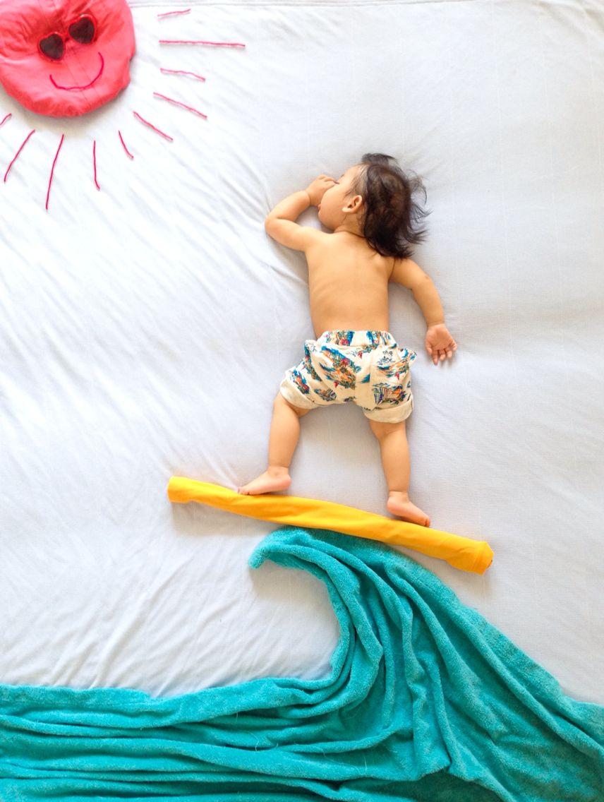 ideas para fotos de bebés
