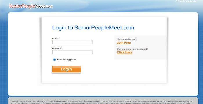 Seniorpeoplemeet log in