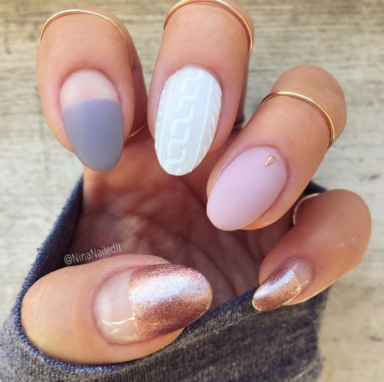 90 Best Gel Nail Designs Ideas You\'ll Love | Manicure and Winter nails