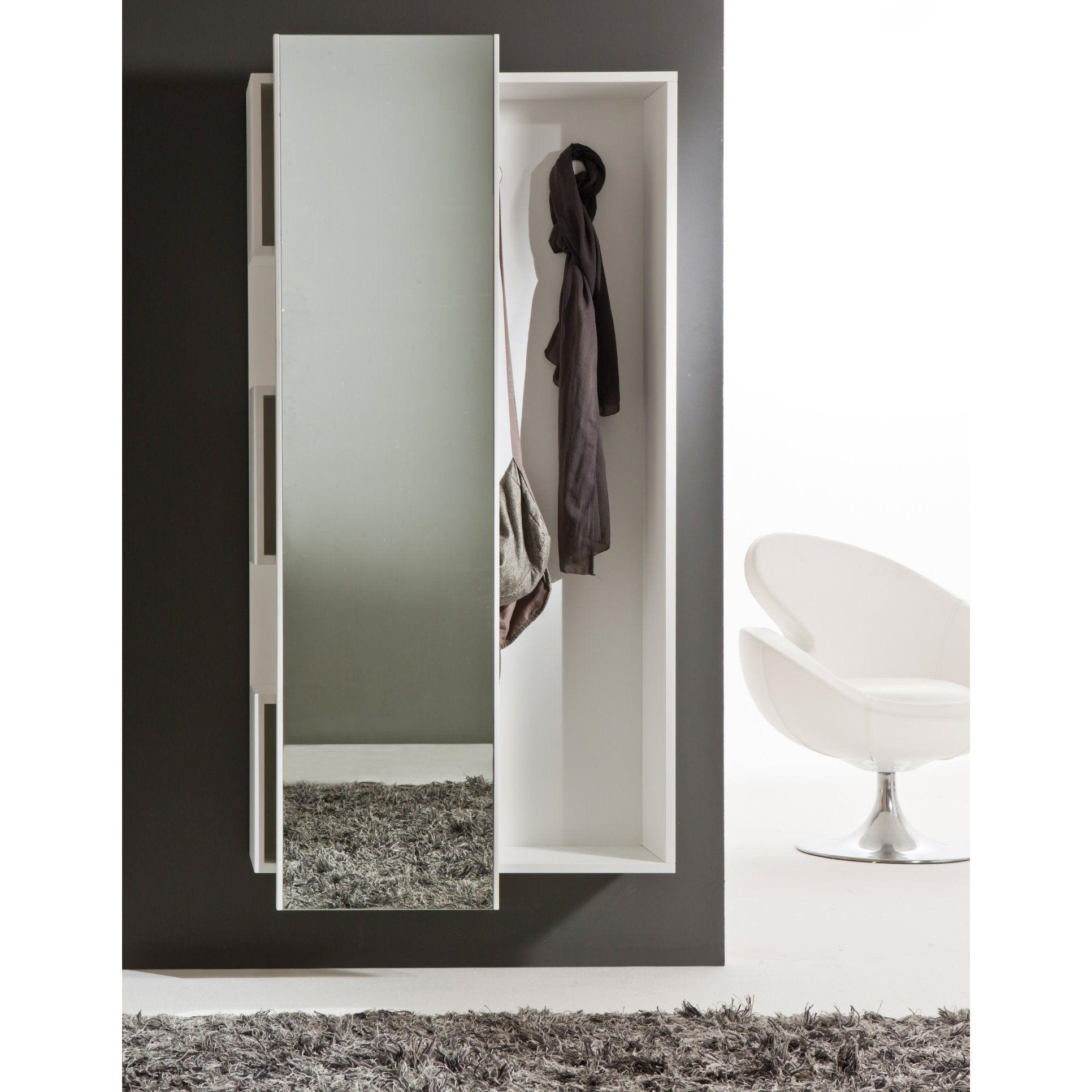 Mobile da ingresso con specchio scorrevole welcome - Attaccapanni con specchio ...