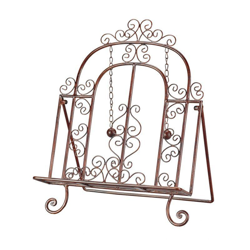 Sterling Industries 44 1073 Sterling Decorative Cook Book Stand Copper  Patina Home Decor Accents Picture Frames
