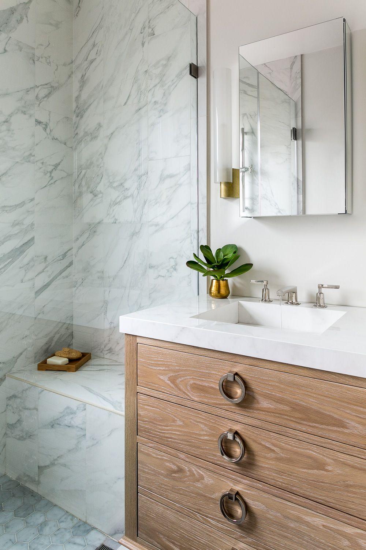 Loving This Marble Natural Wood Vanity Kelly Scanlon Designs