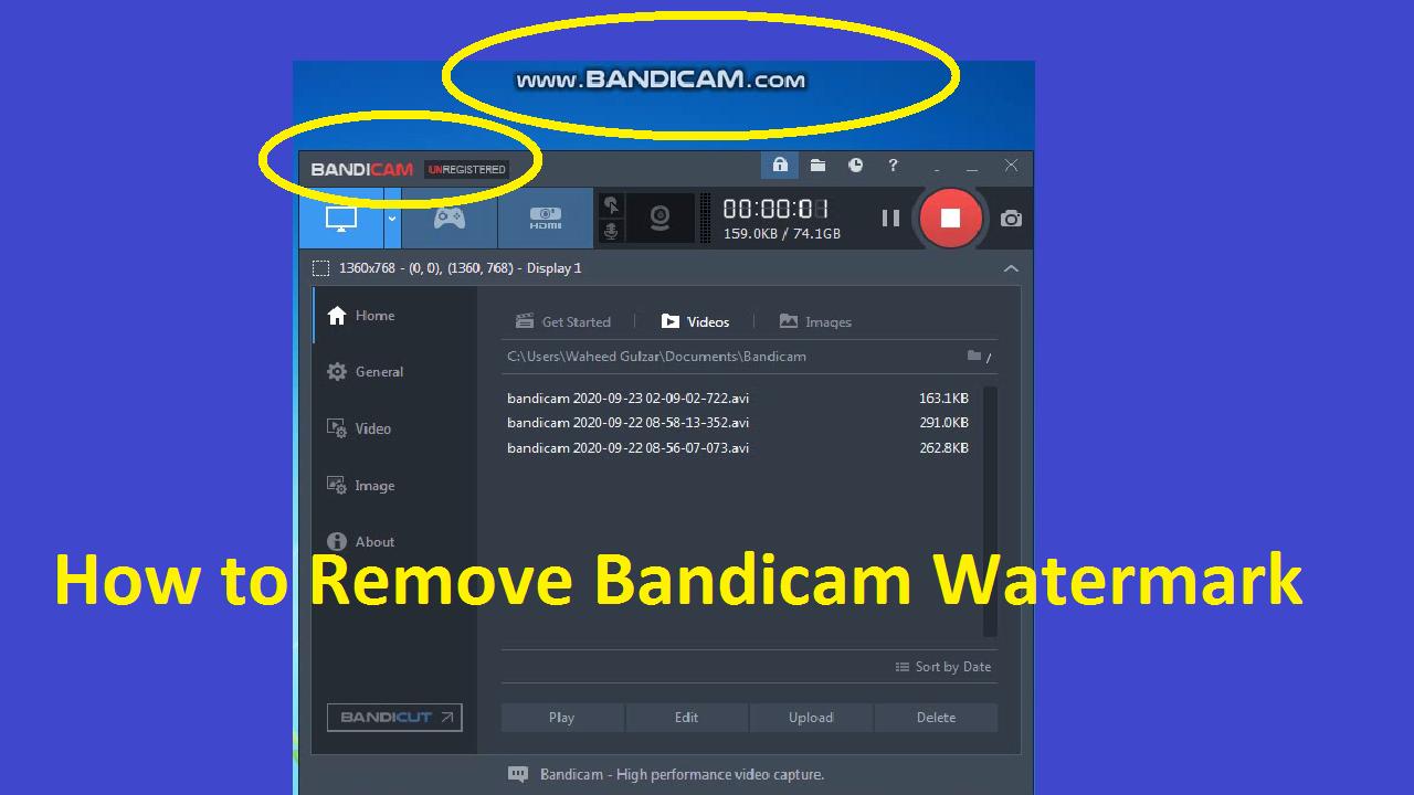 How To Remove Bandicam Watermark