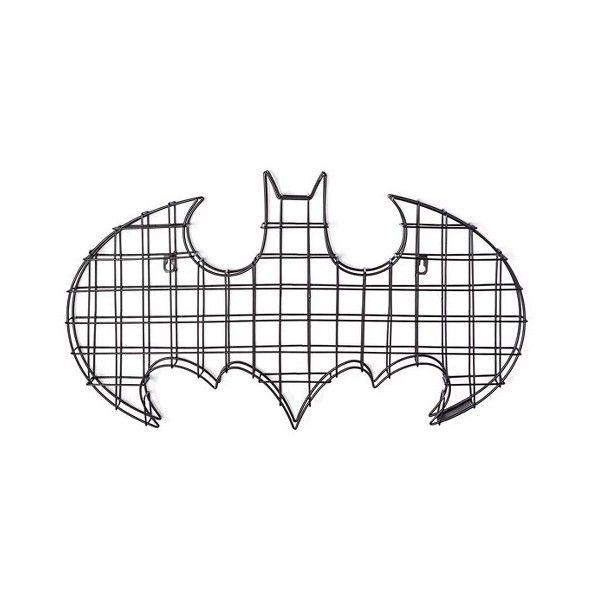 Batman Logo Black Wire Wall Decor ($28) ❤ liked on Polyvore ...