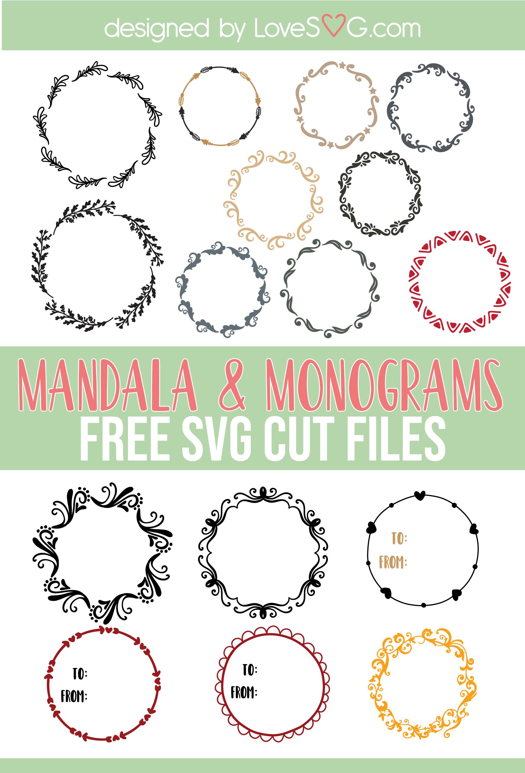 Monogram Frames Lovesvg Com Free Svg Files Monogram Free Monogram Fonts Monogram Frame