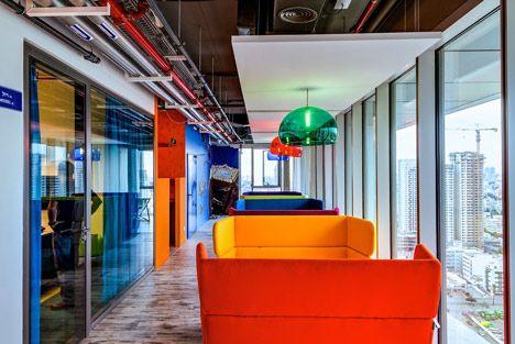 creative google office tel. Creative Office Design. Google Tel Aviv. #creativeofficedesign N
