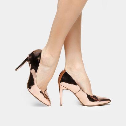 451ff25e2 Scarpin Vizzano Bico Fino - Bronze Scarpin Vizzano, Descolado, Fino, Sapatos,  Salto