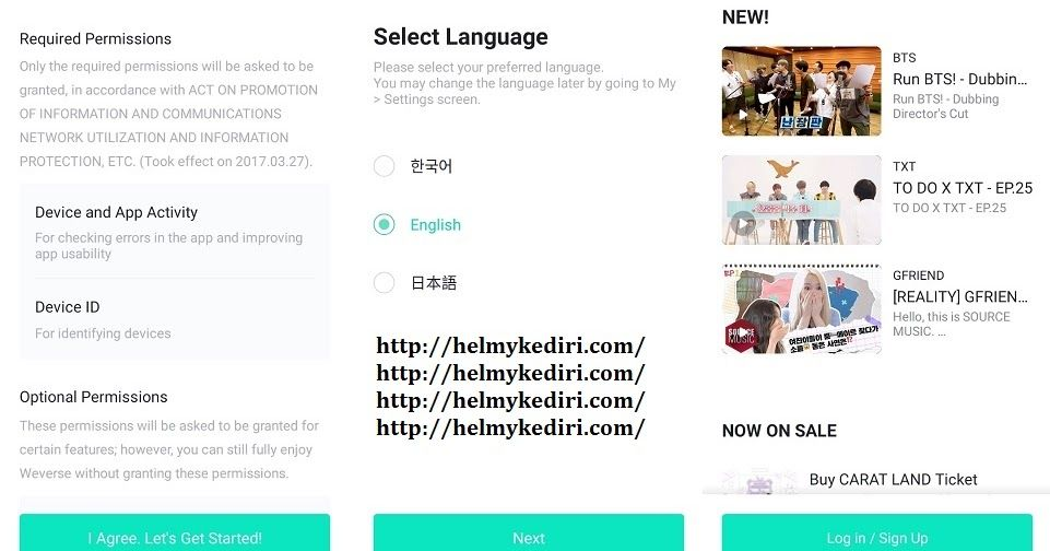 Cara Membuat Akun Dan Menggunakan Aplikasi Weverse Aplikasi Bts Bahasa