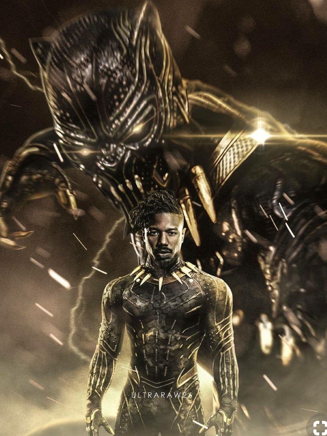 Micgael B Jordan As Erik Killmonger Is One Of The Best Mcu Villains Black Panther Art Black Panther Marvel Black Comics