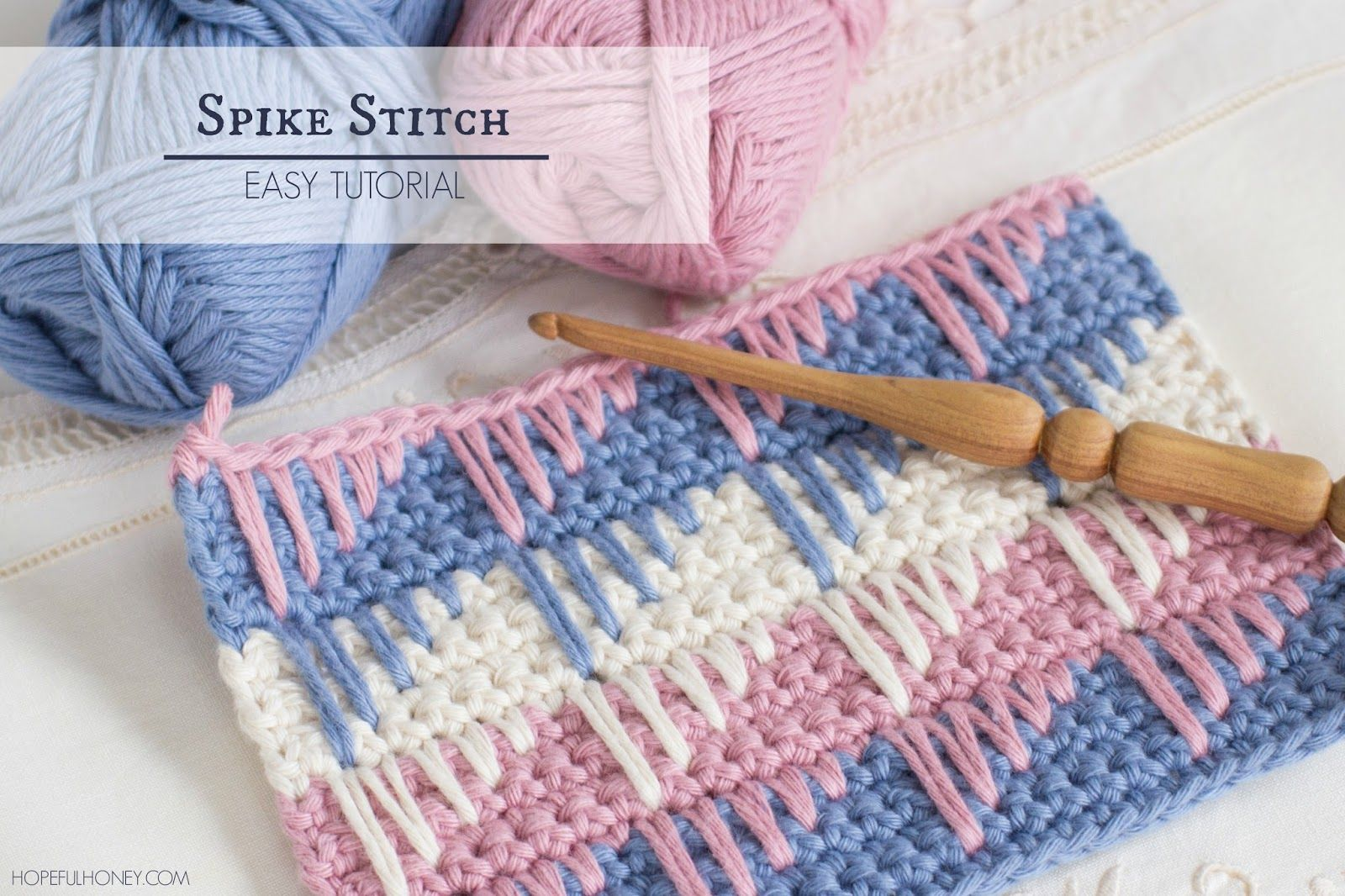 How To: Crochet The Spike Stitch - Easy Tutorial | Pinterest ...