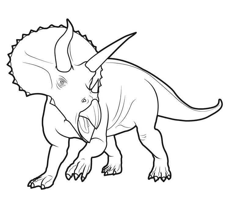 Coloring Pages Of Dinosaur King Dengan Gambar