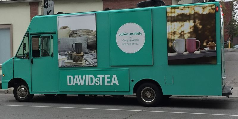 This David's Tea Shop on Wheels Drives Around and Doles Out Tea Samples #tea trendhunter.com