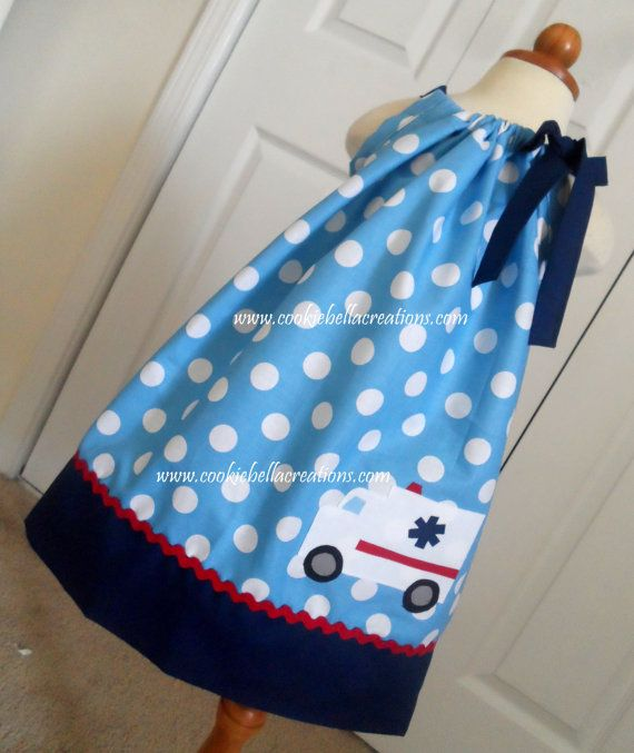 Polka Dot Pillowcases Delectable Emt Ambulance Blue Polka Dot Pillowcase Dressperfect For Baby Design Ideas