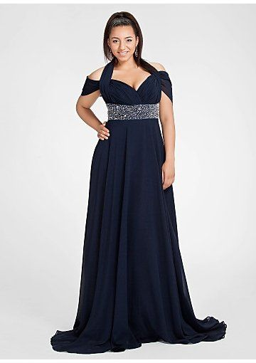 Darius Cordell Chiffon Evening Dresses For Plus Size Women