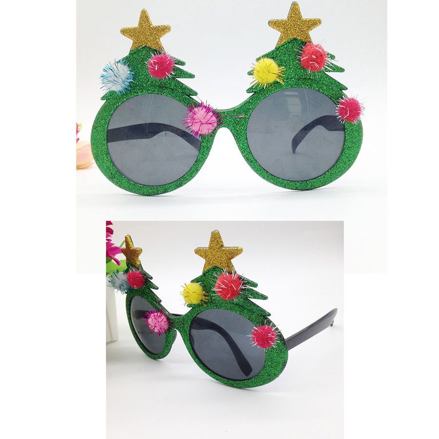 1PC Eyeglasses Funny Creative Christmas Tree Christmas Eyeglasses ...