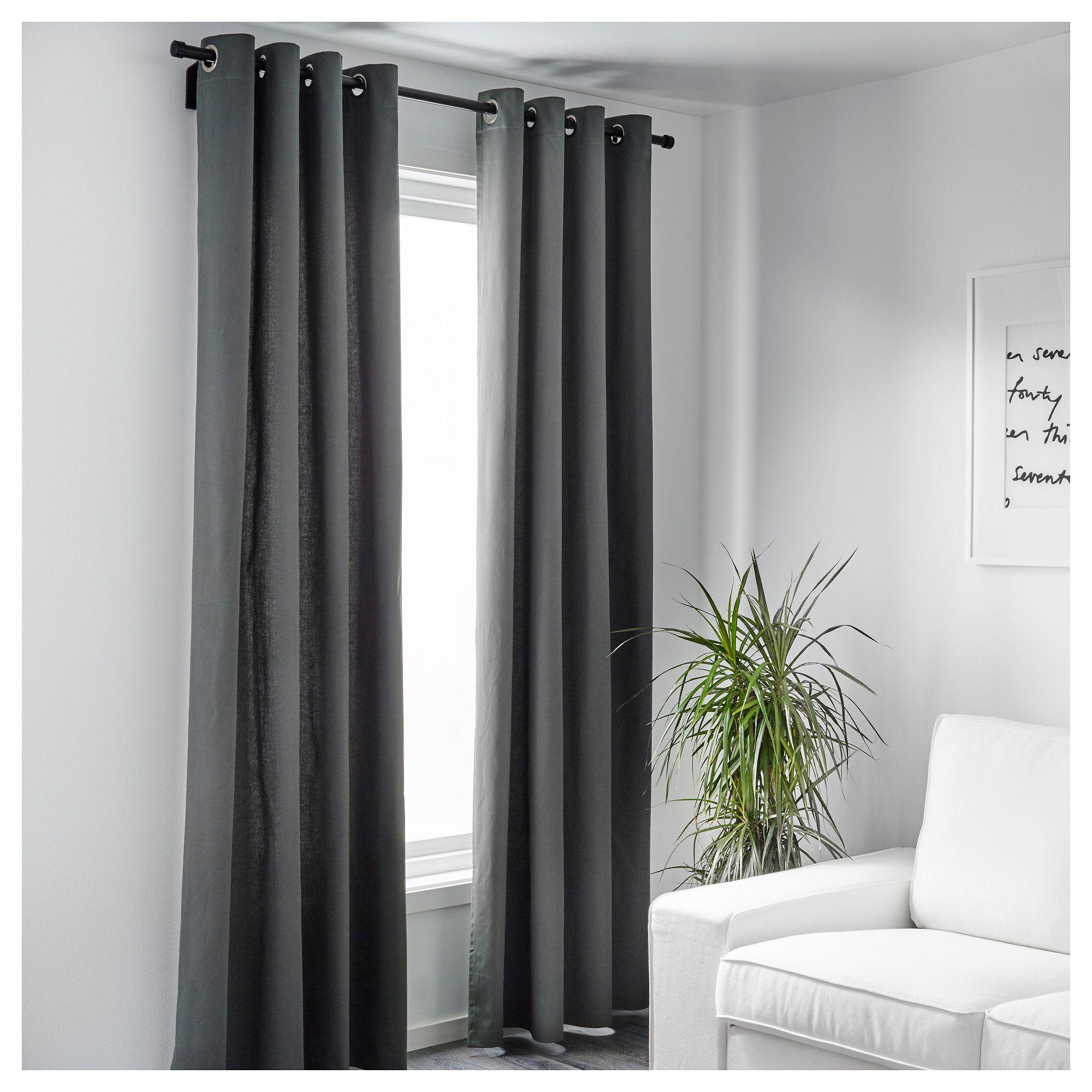 IKEA - MERETE Room darkening curtains, 1 pair gray in 2019 ...